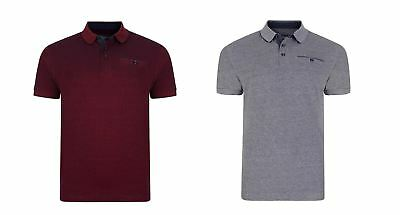 KAM Pure Cotton Mens Melange Two Tone Polo (5119)