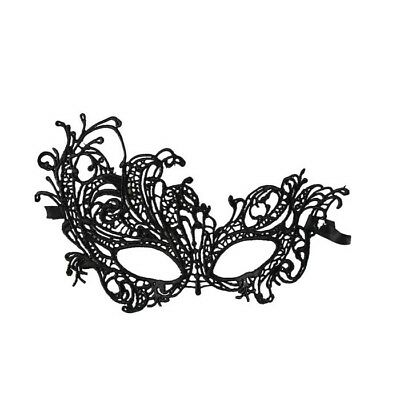 Gothic Steampunk Party Costume Venetian Masquerade LACE EYE/FACE MASK Black #01