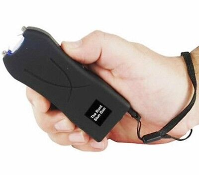 20 Million Volt Rechargeable LED BLACK Self Home Defense POLICE Safety Stun Gun