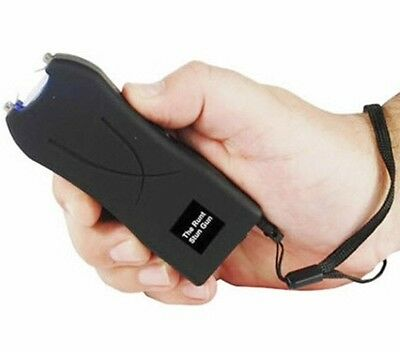 POLICE 20 MV Rechargeable LED BLACK Self Home Defense POLICE Safety Stun Gun NEW