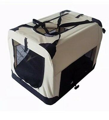 Portable (Large) Fabric  Dog Cat Puppy Pet Travel Carrier Kennel Crate Cage bieg