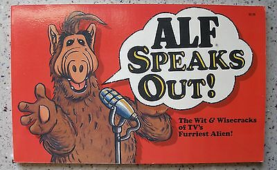 1987 Vintage Original ALF Speaks Out! by Richard J. Schellbach (Paperback)