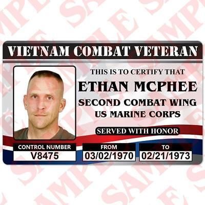 United States Combat Veteran ( Any War ) Visual Appreciation - ID Card