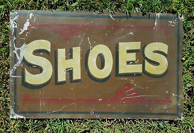 Nice Late 19th Century SHOES Sign