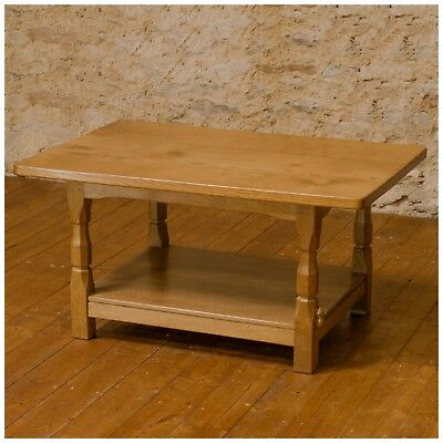 Colin 'Beaverman' Almack Yorkshire School Adzed English Oak Coffee Table