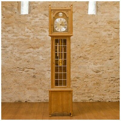 Arts and Crafts English Oak Longcase 8-Day Clock