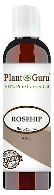 Rosehip Oil 4 oz Cold Pressed Refined Seed 100% Pure Organic Rose Hip For Face
