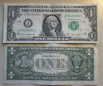 Stati Uniti Usa 1 Dollaro One Dollar $ Series J 2013 Washington Banconota Rara