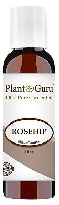 Rosehip Oil 2 oz Cold Pressed Refined Seed 100% Pure Organic Rose Hip For Face