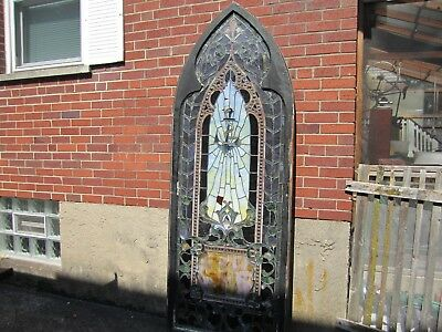 Pick up Only 1800's stained glass window Church Nautical Anchor 1850