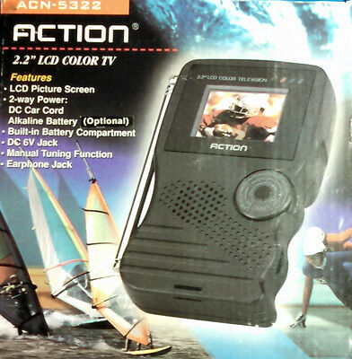 """USA LCD Pocket-TV Color """"Action ACN-5322"""" OVP"""