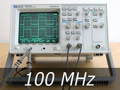 HP / Agilent 54600B 2-channel 100 MHz Oscilloscope + 2 New Probes. Very clean