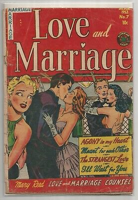 Superior Comics #7 Love And Marriage Counsel 10 Cent Mar 1953 Golden Age Comic