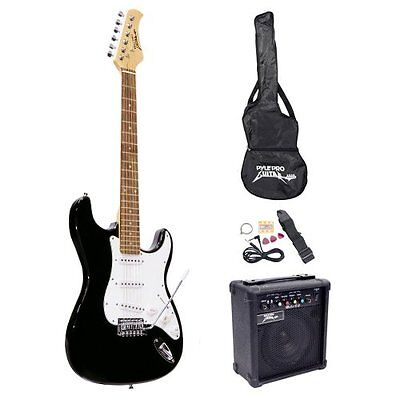 Pyle-Pro PEGKT15B Electronics Features Beginner Electric Guitar Package Black