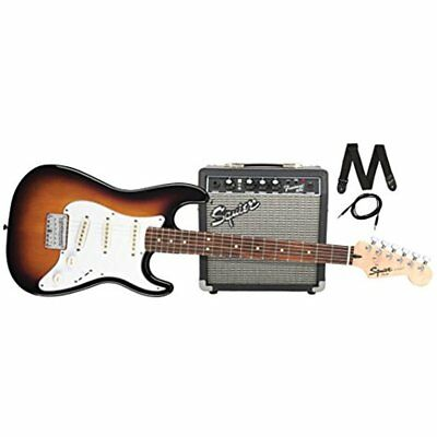 squier by beginner kits fender stratocaster short scale electric guitar pack 10g cad. Black Bedroom Furniture Sets. Home Design Ideas