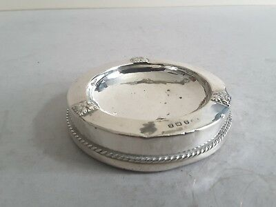 A.e.jones Stylish Vintage Solid Silver ( Filled). Ash- Tray.  Birmingham 1929.