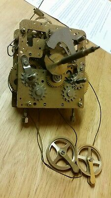 Franz Hermle Weight Driven  Vienna Wall Clock Movement.spares or repair