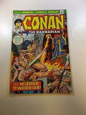 Conan The Barbarian #29 signed by Roy Thomas VG/FN condition