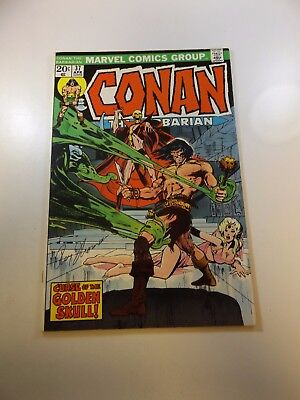 Conan The Barbarian #37 signed by Roy Thomas VF- condition MVS intact