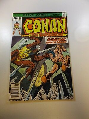 Conan The Barbarian #66 signed by Roy Thomas VF condition
