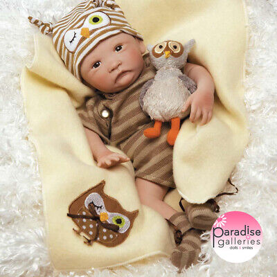 Paradise Galleries Hoot! Hoot! Preemie Boy Baby Doll that Looks like a Real Baby