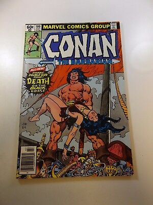 Conan The Barbarian #100 signed by Roy Thomas VF- condition