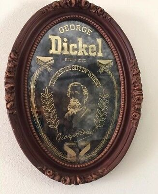 George Dickel Tennessee Sippin Whiskey Mirror Like Bar Sign Advertising Swag