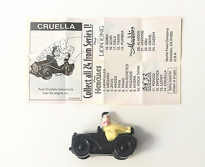 "Nestle Magic Disney's 101 Dalmatians ""Cruella"" Figure Mint w/ Paper Insert"