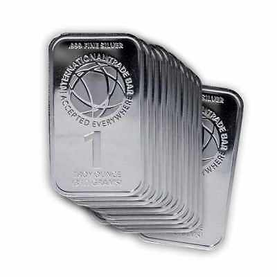 Lot of 20 - 1 oz Silver International Trade Bullion (ITB) Bar