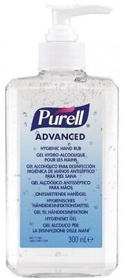 PURELL Advanced Hygienic Hand Rub, 300ml Pump Bottle, Antimicrobial Efficiency