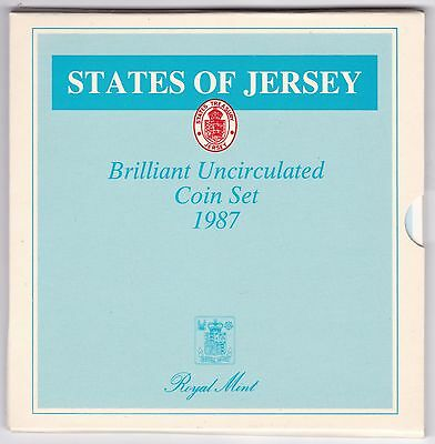1987 States Of Jersey Brilliant Uncirculated Coin Set***Collectors***