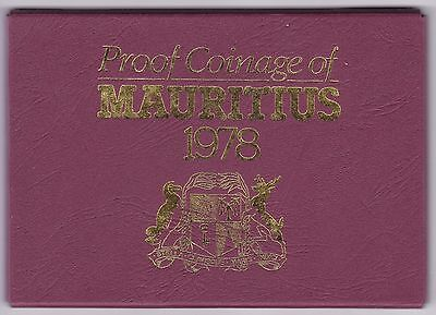 1978 Proof Coinage Of Mauritius Coin Set***Collectors***