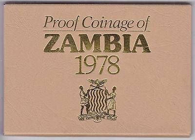 1978 Proof Coinage Of Zambia Coin Set***Collectors***
