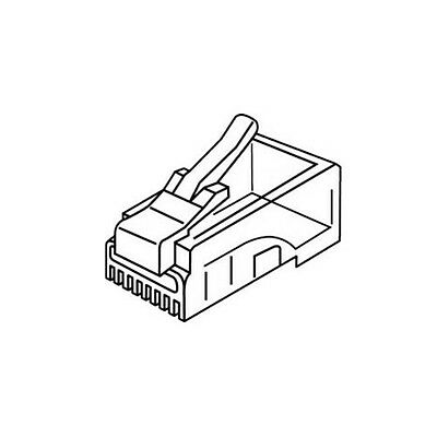 Platinum Tools 106143J RJ-45 (8P8C) Connector Flat-Stranded. 100/Jar.