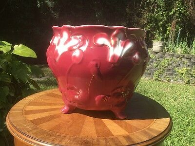Antique Art Nouveau Majolica Cache Pot Planter c.1920's, fm1197 GIFT QUALITY!