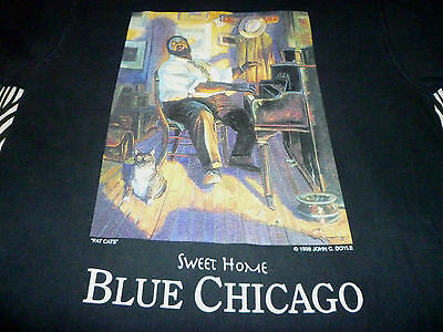 Fat Cats/Sweet Home Blue Chicaco Shirt ( Used Size L ) Good Condition!!!