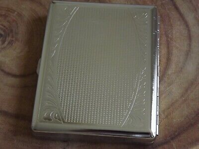 Metal Double Sided King & 100's Cigarette Case Etched Design