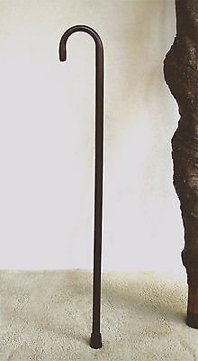 Walking Cane  Extra Tall  Steam Bent Handle In Walnut Finish With Rubber Tip