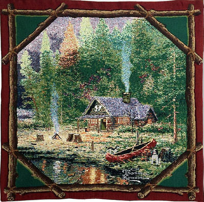 BRAND NEW Thomas Kinkade End of a Perfect Day Tapestry Wall Hanging