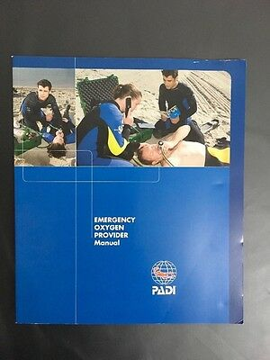 New PADI Emergency Oxygen Provider Manual RRP £27 #70019 Scuba Diving Safety