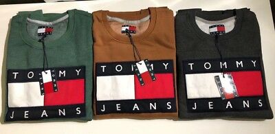 Tommy Jeans Big Logo Sweatshirts/jumpers For Men 2017 Available In  S-M-L-Xl-Xxl