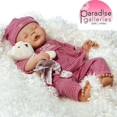 Paradise Galleries Little Princess Doll, Reborn Baby Girl, 17 inch Newborn Doll
