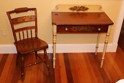 Vintage Hitchcock Furniture writing desk and chair set in very good condition