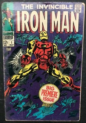 The Invincible Iron Man #1 1968 Avengers Marvel Stan Lee VG