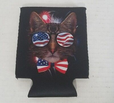 Cool Cat USA Novelty Beer Koozie Can Cooler