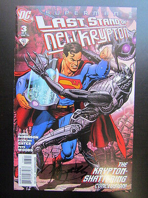 Superman: Last Stand Of New Krypton #3  Variant Cover Signed By Sterling Gates!