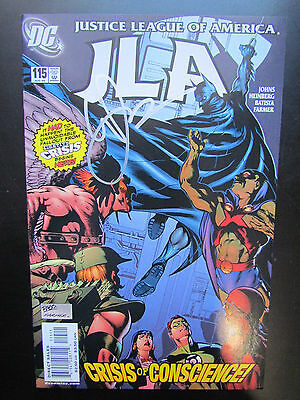Justice League Of America #115 Jla Signed By Geoff Johns! Dc Comics - No Coa