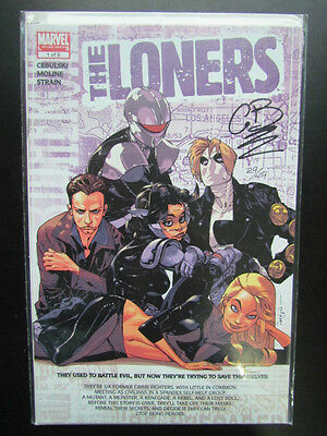 The Loners #1 - Signed By Writer C.b. Cebulski - Df Coa Included 29/49 - Rare