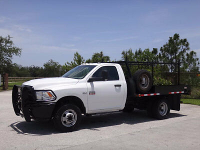 2012 Dodge Ram 3500 Flatbed 4x4 2012 Dodge Ram 3500 4x4 9ft Flatbed 5.7L Hemi 1 Owner Clean Carfax Power Pkg