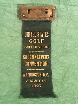 Very Rare 1927 Usga Golf  Ribbon  Medal First Ever Greenkeepers Convention